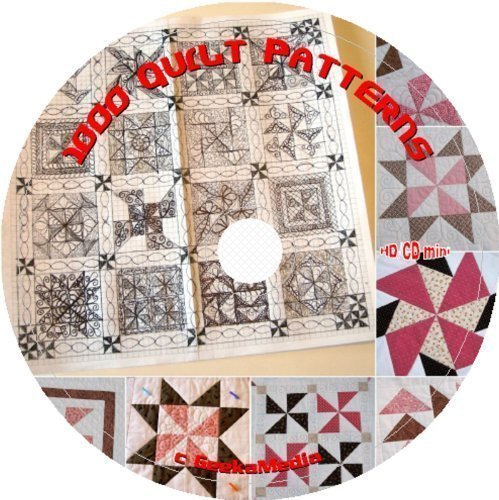 1000 Vintage Kansas City Star Newspaper Quilt Patterns Broken Cd Rom