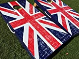 British Flag Union Jack Cornhole Board Set