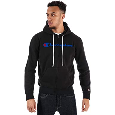 Champion À Zippée Garment Homme Veste Capuche Washed Noir zSVMpUq
