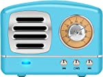 Dosmix Wireless Stereo Retro Speakers, Portable Bluetooth Vintage Speakers with Powerful