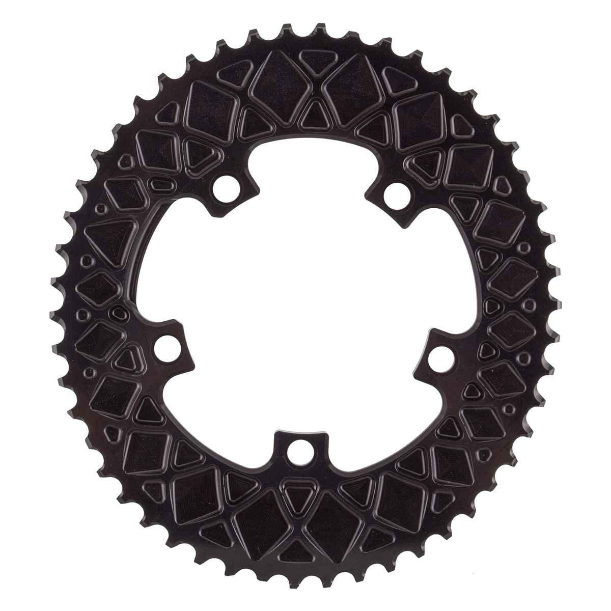 Absolute Black(アブソリュートブラック)ROV50/5BK Ovalチェーンリング ROAD 50T 110PCD 5アーム用 ブラック B01GQWH7WO