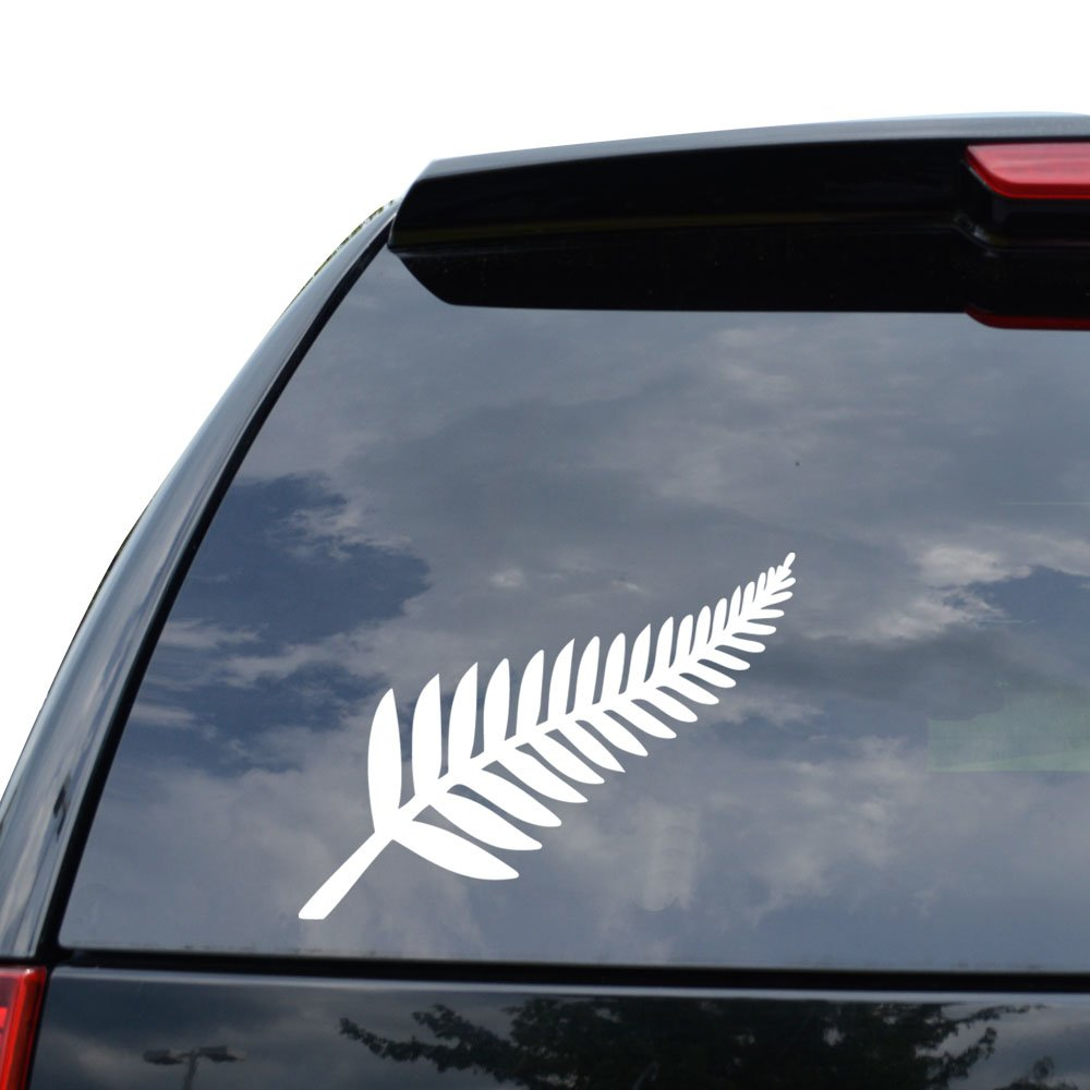 Amazon com new zealand silver fern decal sticker car truck motorcycle window ipad laptop wall decor size 05 inch 13 cm wide color matte white