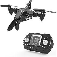TENKER Skyracer Mini Helicóptero RC, Drone para niños, Quadcopter con modo de retención de altitud, Drone RC con giro en 3D, modo sin cabeza y una tecla de despegue / aterrizaje, ideal para principiantes