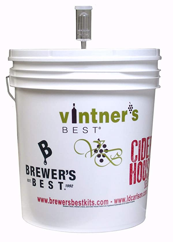 7.9 Gallon Plastic Fermenting Bucket with Lid & Air Lock (Color: White, Tamaño: 7.9 gallon)