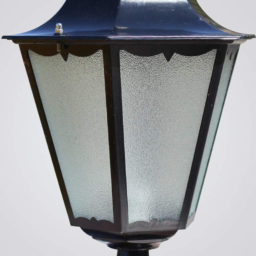 WSXXN Columna de la linterna de la puerta del poste poste poste de la luz Villa Jardín de estilo europeo de la luz del jardín Led de la gran luz de la puerta Exterior de la lámpara de Wai impermeable Luz de la pa 224917