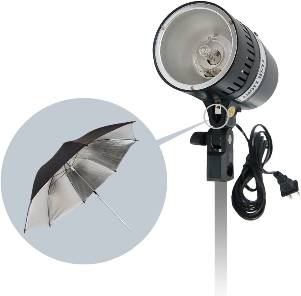 LimoStudio 160 Watt Digital Strobe Flash Light /& Umbrella Reflector Holder