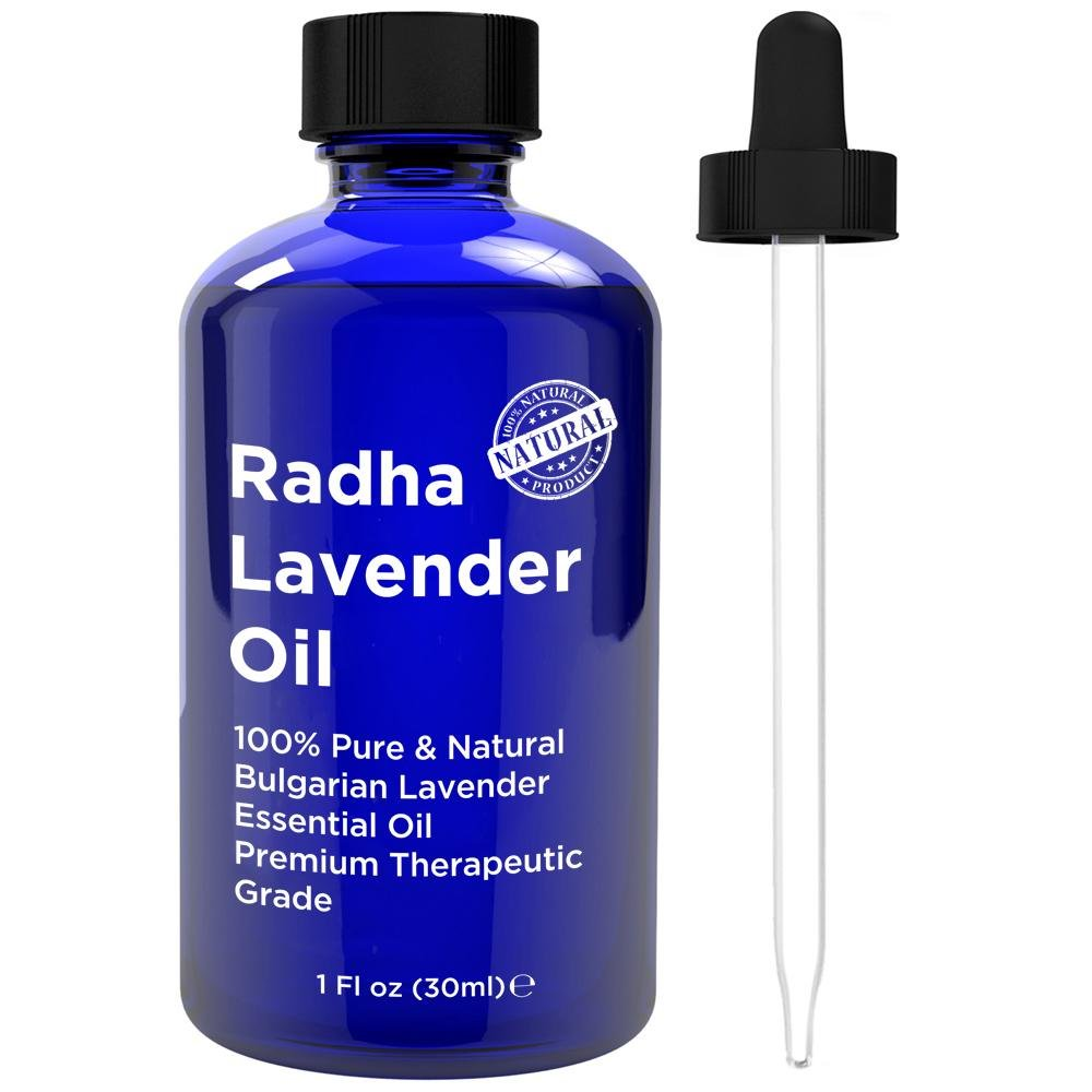 Radha Beauty Lavender Essential Oil 100% Natural - 4 oz