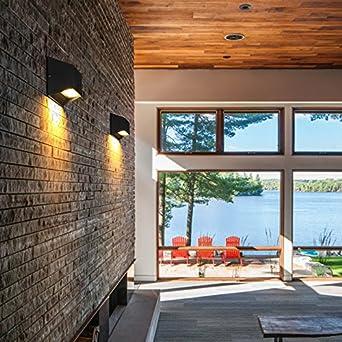 Sisanlai Lampe De Mur Haut Bas Applique Murale Mur Extérieur