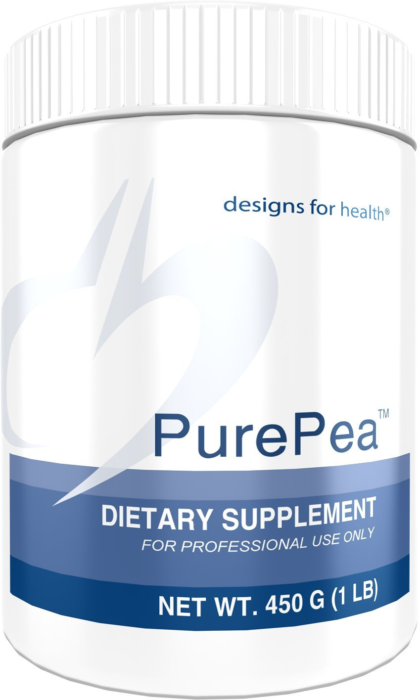 Designs for Health PurePea Unflavored Protein Powder - 24 Grams Vegan Protein from Non-GMO Peas (15 Servings, 450 Grams)