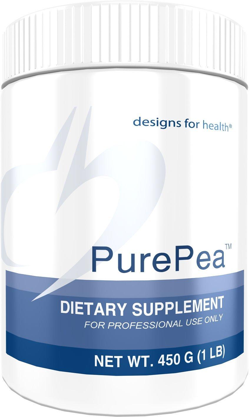 Designs for Health - PurePea Unflavored - Pea Protein Powder, Vegan + Non-GMO Peas, 1 lb