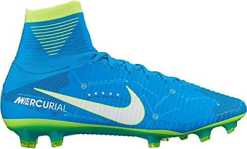 6b2a1daf3f89 Nike Men s Mercurial Superfly V NJR FG Soccer Cleat (Blue Orbit) (10. 5)   Buy Online at Low Prices in India - Amazon.in