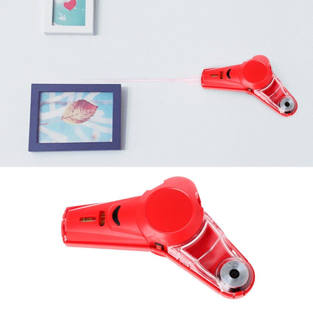 Drill Buddy Collecteur de poussi/ère sans fil avec niveau laser et fiole /à bulles Outil de bricolage