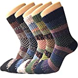 4-5 Pack of Womens Thick Knit Warm Casual Wool Crew Winter Socks, Size 5 to 10