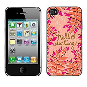 Design Hard ShellGold Pink Peach Purple Text For Samsung Galaxy S6 Case Cover