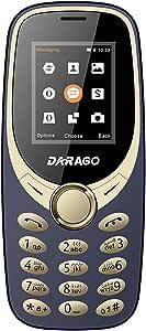 هاتف محمول ثنائي الشريحة الجيل الثاني من داراجو D10، 1.7 بوصة، كحلي