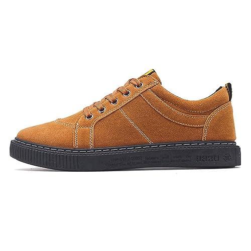 Hombres Zapatos Casuales de Cuero de Encaje Mocasines Zapatillas Zapatos Hombres Mocasines Zapatillas: Amazon.es: Zapatos y complementos