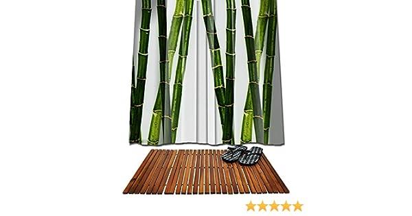 Set baño madera 80 x 50 + Ridder 180 x 200 cortina de ducha de ...