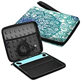 Fintie Carry Case for Wacom Intuos - Portable Travel Bag for Small CTL4100WLK0 / Draw CTL-490DW/490DB / Art CTH-490AK/490AB / Comic CTH-490CK/490CB / Photo CTH490PK Drawing Tablet, Emerald Illusions