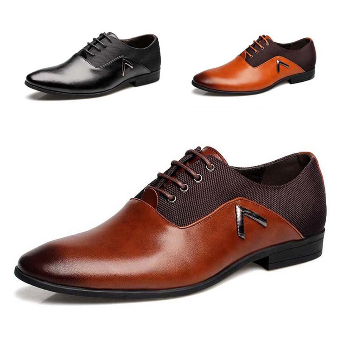 Wenjhen Men Formal Dress Lace Up scarpe 52606f35747