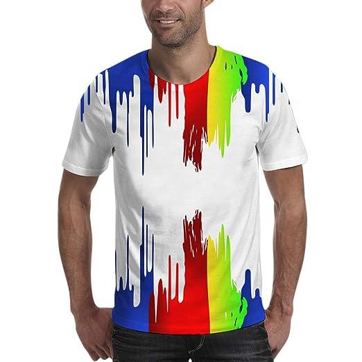 042c329bb Easytoy Men Shirts 2019 Fashion Men's T-Shirt Graphic Short Sleeve Tee Top  White