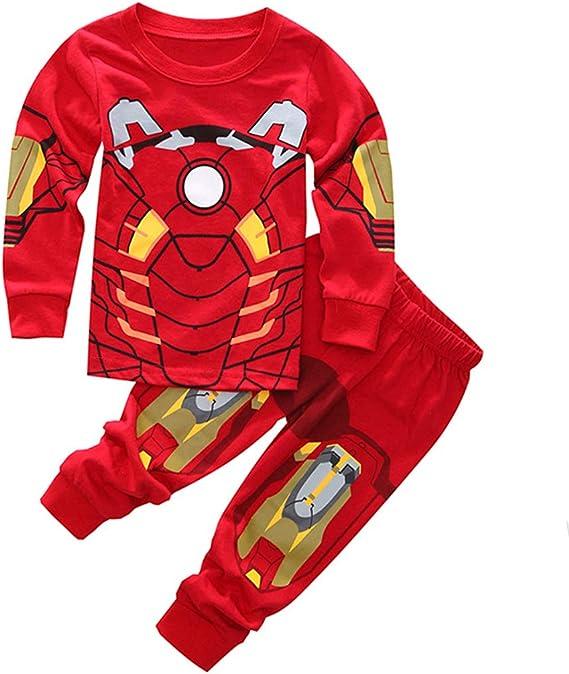 Sidney Boys Ironman Pjs Pants 2 Piece Pajama Set,Size 2-7Yrs