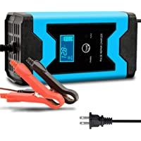 Enhanced Edition Car Battery Charger 12V/6A Automotive Smart Portable Battery Charger Maintainer/Pulse Repair Charger…