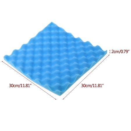 ECMQS 300 × 300 × 20 mm 1 Unidades Habitaciones de Carga acústica densas Espuma absorción acústica Tratamiento Panel Azulejos - Medidas de protección ...