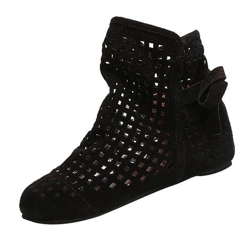 Zarupeng Botines calados, Botas de Mujer Planas Bajas Ocultas cuñas Botines de Tobillo Zapatos Casuales Botines Lindos: Amazon.es: Zapatos y complementos