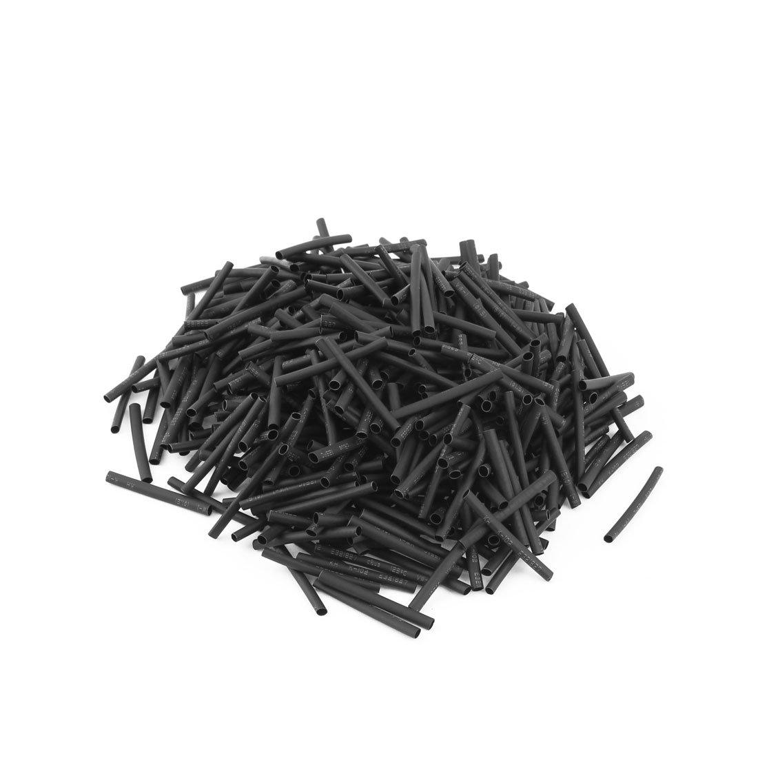 500 Stk Schwarz 1 mm Durchmesser 2:1 Polyolefin Schrumpfschlauch  30 mm