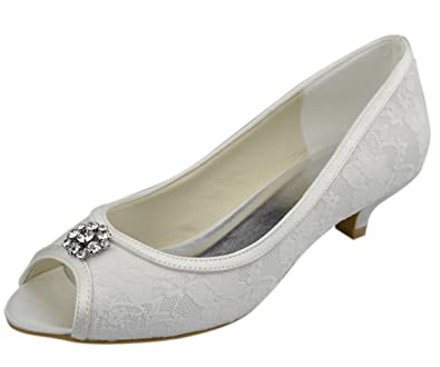 Amazon.com | Minitoo GYAYL014R Womens Kitten Heel Open Toe Satin
