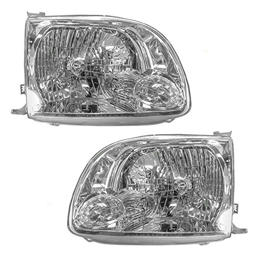 Driver and Passenger Headlights Headlamps Replacement for Toyota Pickup Truck 811500C040 811100C040