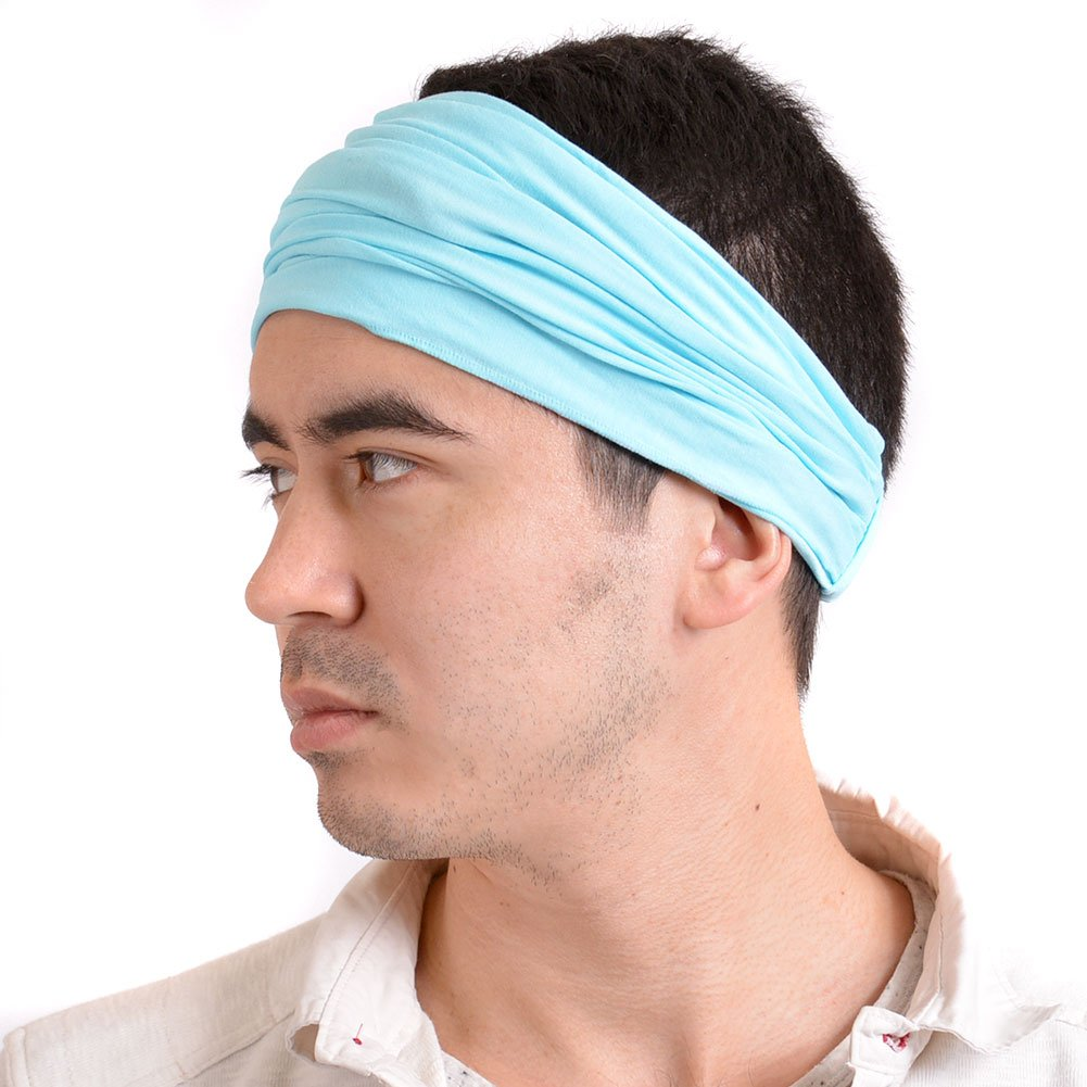 Casualbox Japanese Bandana Headbands for Men and Women – Comfortable Head Bands with Elastic Secure Snug Fit Ideal Runners Fitness Sports Football Tennis Lightweight