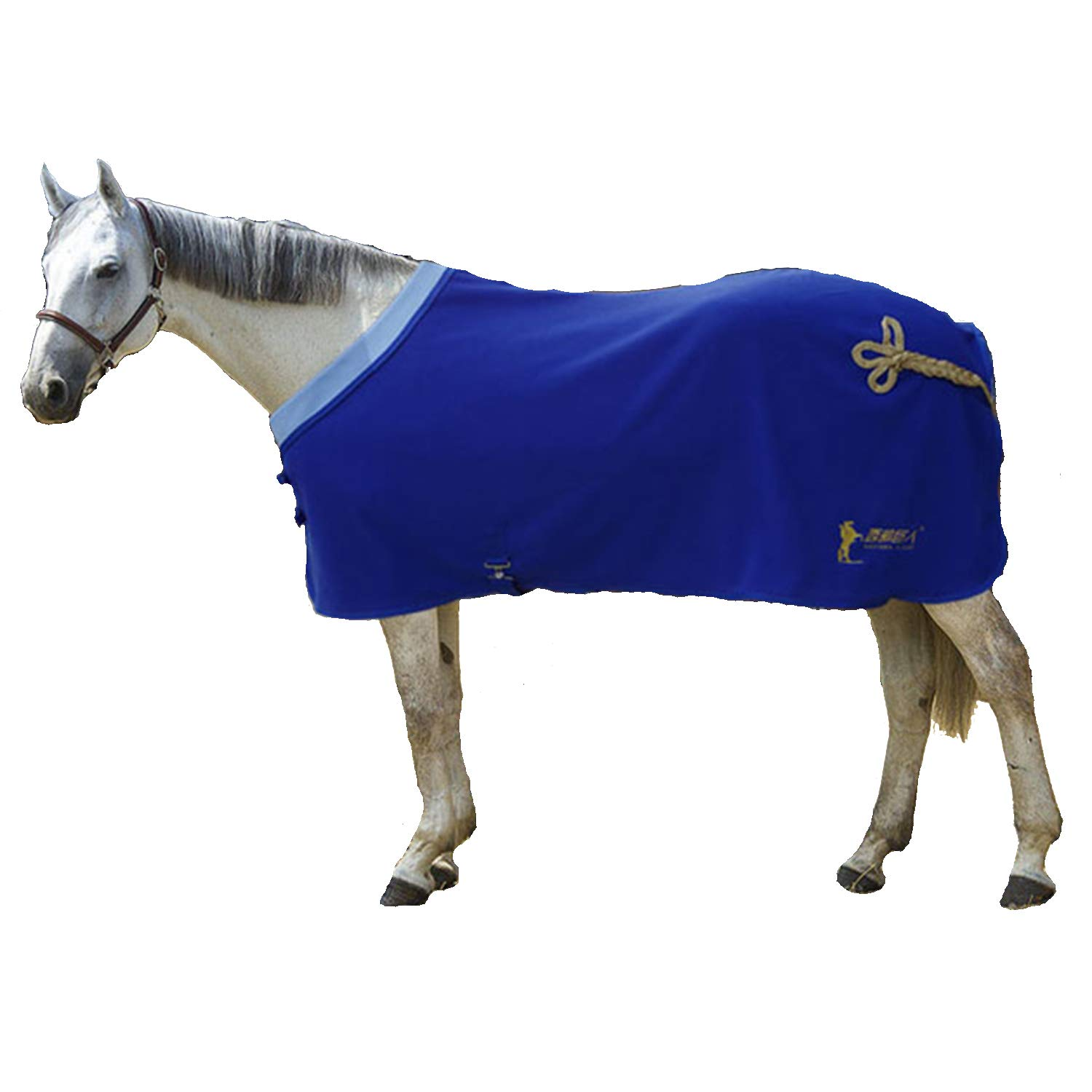 bluee 135cm bluee 135cm Spring and Autumn Horse Blanket Training Horse Blanket Comfortable Warm Soft Fleece Fabric