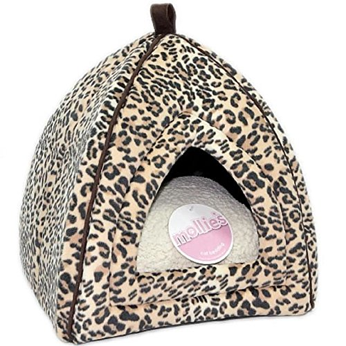 Petface Mollie's Faux Suede Leopard Igloo Cat Bed (PACK OF 6)