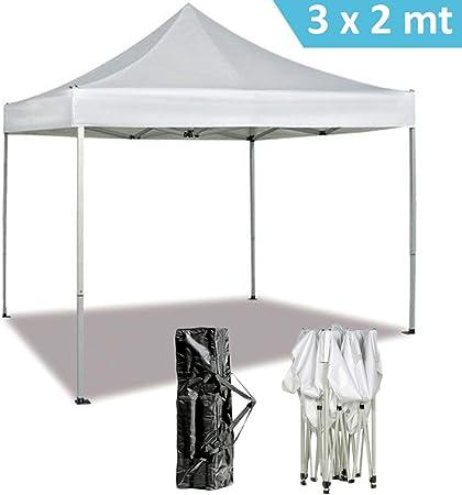 DP Design® - Carpa plegable e impermeable de color blanco - Se incluye bolsa para guardarla - Ideal para jardín, mercado, terraza, etc - Dimensiones: 3 x 2 m: Amazon ...