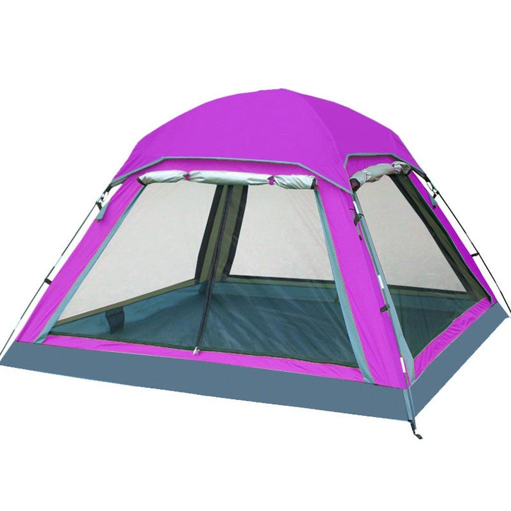 Deng Zelt im Freien 3-4 Personen Familien-Set Camping Camping Regenschutz Feld automatische Zelte