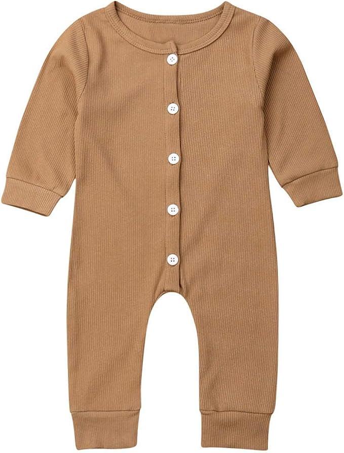 Amazon.com: Bebé recién nacido niño niña mameluco sin mangas ...