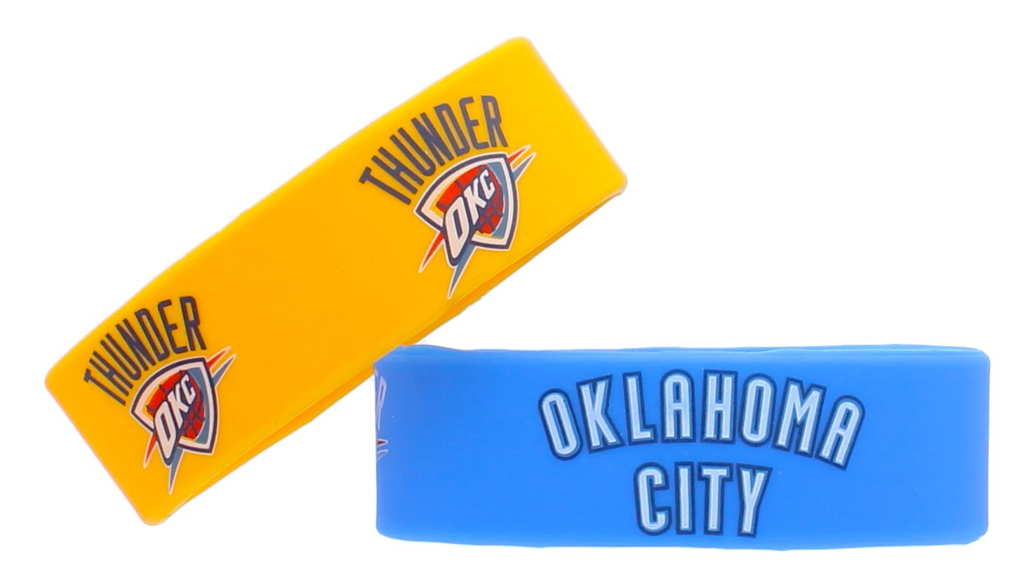 NBA Oklahoma City Thunder Silicone Rubber Bracelet 2 Pack