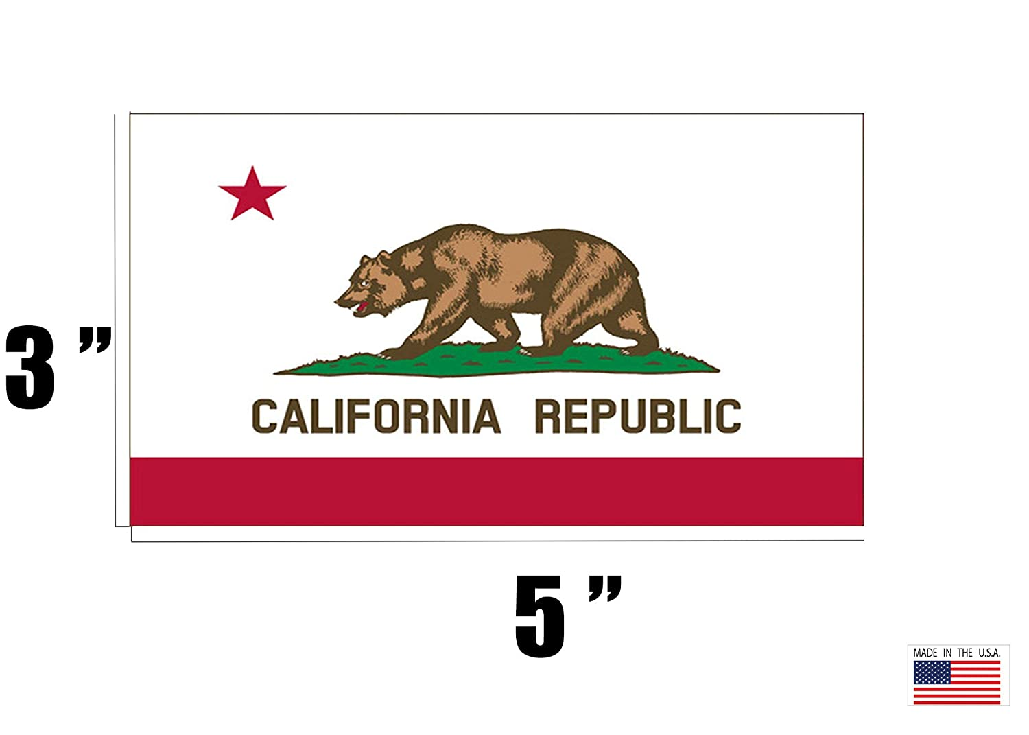 Rogue River Tactical California CA Republic State Flag Auto Decal Bumper Sticker Car Truck Boat RV Window