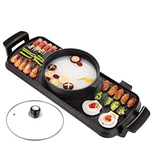 BHDYHM Parrilla de cocción eléctrica Teppanyaki, termostato de ...