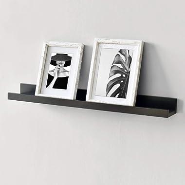 WELLAND Vista Photo Ledge Picture Display Wall Shelf Gallery (24-inch, Espresso)