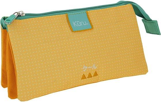 Grafoplás 37542860 Colección Kuru Estuche Triple, Amarillo, 22.5 x 12 x 14 cm: Amazon.es: Equipaje