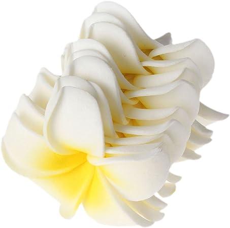 d/écoration de la maison Butterme 100pcs 1.6 inch diam/ètre Plumeria mousse hawa/ïenne frangipanier fleur Pour mariage f/ête