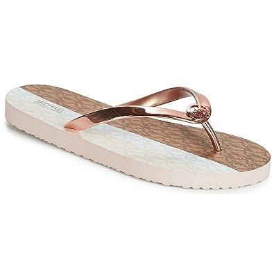 2754eb917 Amazon.com | Michael Kors PVC Flip Flop in Rose Gold Size 9 | Shoes