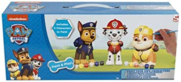 New Paw Patrol Paint your Own Marshall Dog Figure Childrens Kids Toy ...