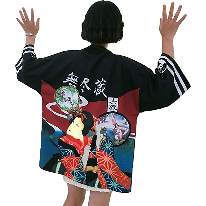 Amazon.com: ZooBoo - Kimono japonés para mujer, chaqueta ...