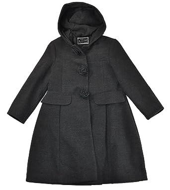851f5ec732fe Amazon.com  Rothschild Little Girls Dark Charcoal Gray Faux Wool ...