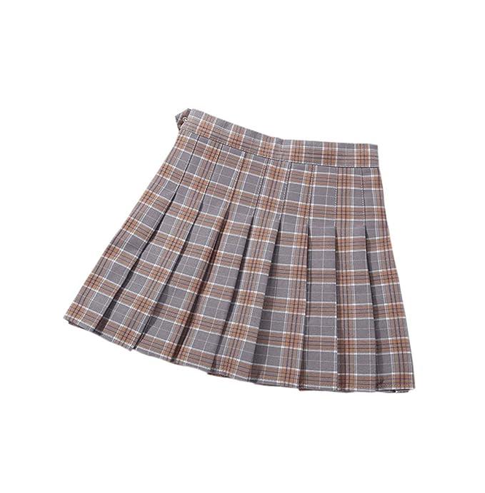 Ruth Wang England Style Girl Plaid Impreso Falda Plisada Uniforme ...
