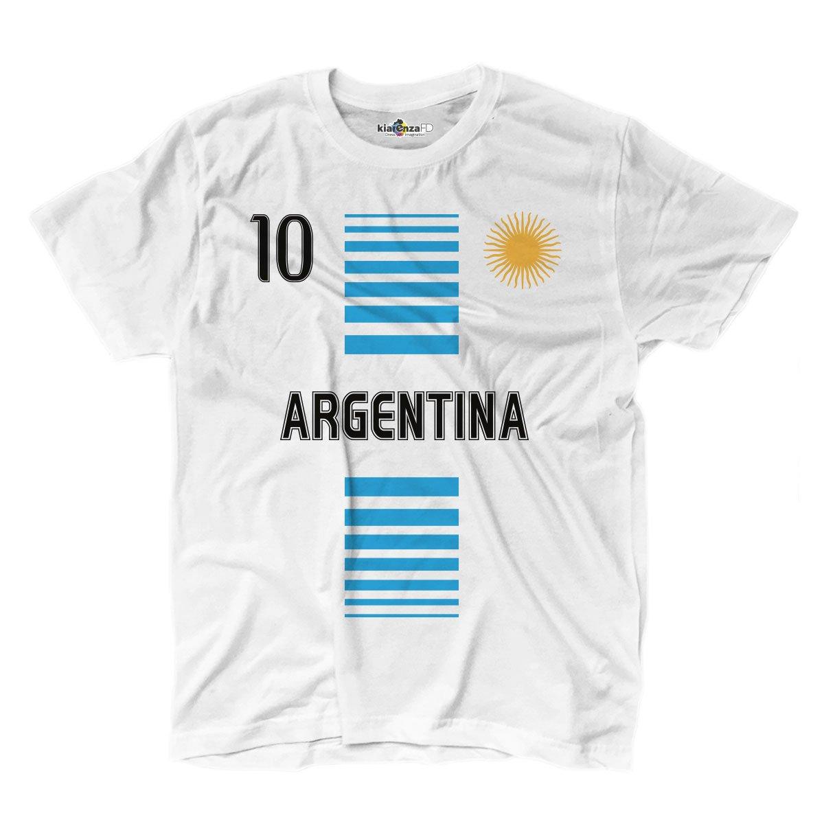 KiarenzaFD T-Shirt Hommes National Sportif Argentina Argentine 10 Sole Football Sport 1 Streetwear Shirts
