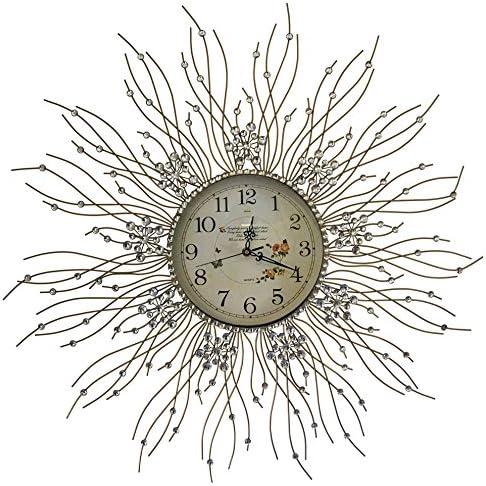 Beautiful Starburst Wall Clock Glass Dial Diameter 27''inch Flower